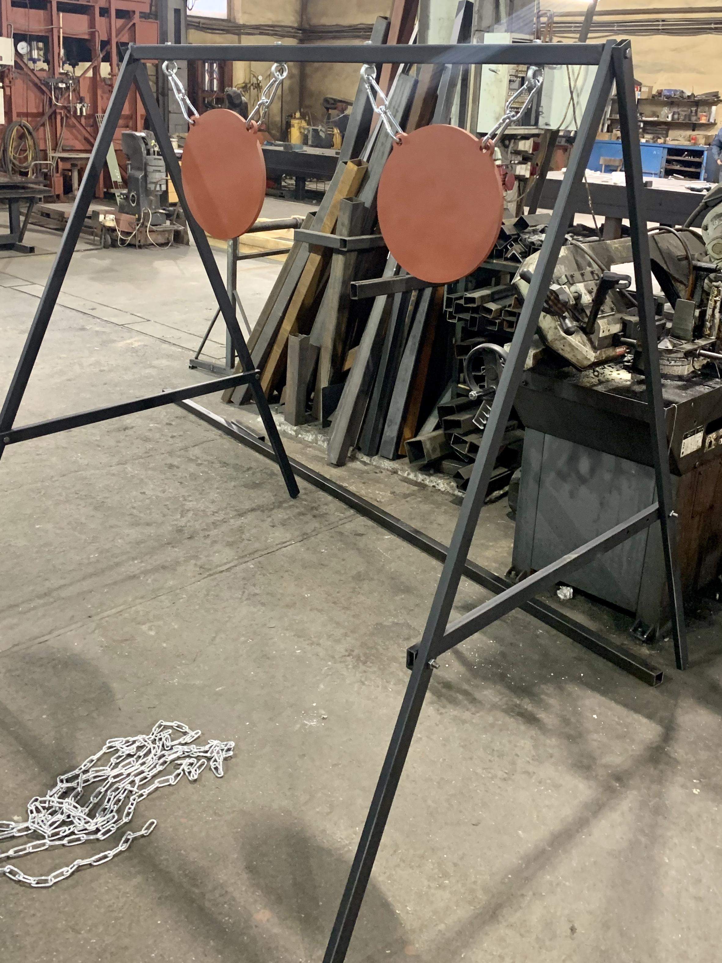 мишенная установка с двумя гонгами